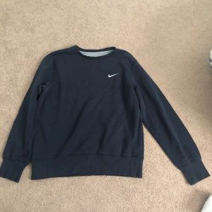 Blue Nike Crew Neck Sweatshirt